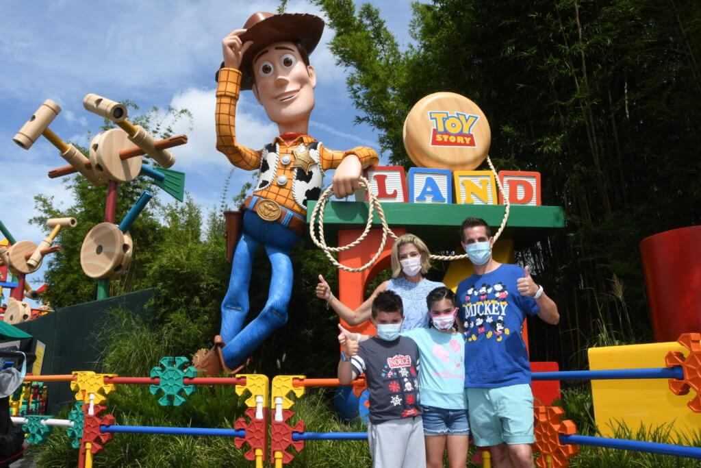 Toy Story Land Face Coverings Returning to Disney World