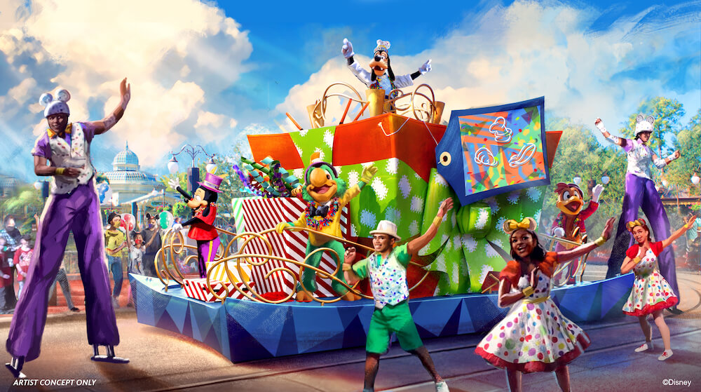 Disney Parade and street entertainment