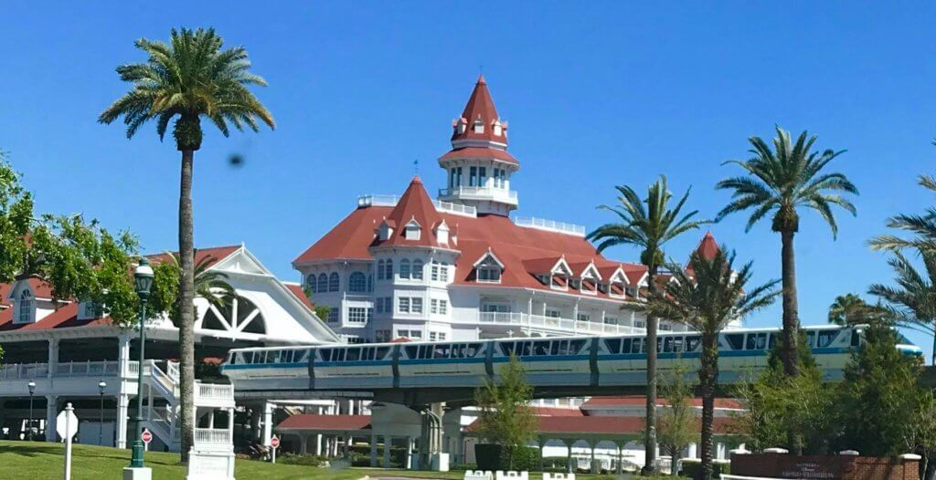 Disney's Grand Floridian Resort and Spa and Monorail