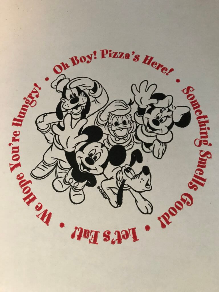 Disney's Boardwalk Pizza Box